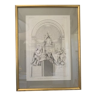 19th C Italian Engraving of Pope Alessandro VII For Sale
