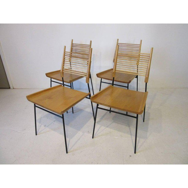 Maple Paul McCobb Shovel Seat Dining Chairs from the Planner Group - set of 4 For Sale - Image 7 of 8