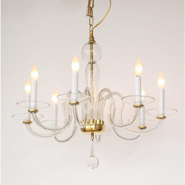 1960s 1960s Murano Glass Eight Arm Chandelier For Sale - Image 5 of 11