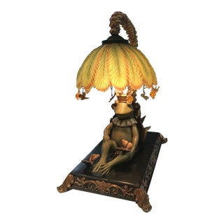 Sleeping King Frog Accent Lamp For Sale