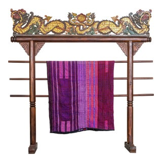 Hmong Purple Red Blanket For Sale