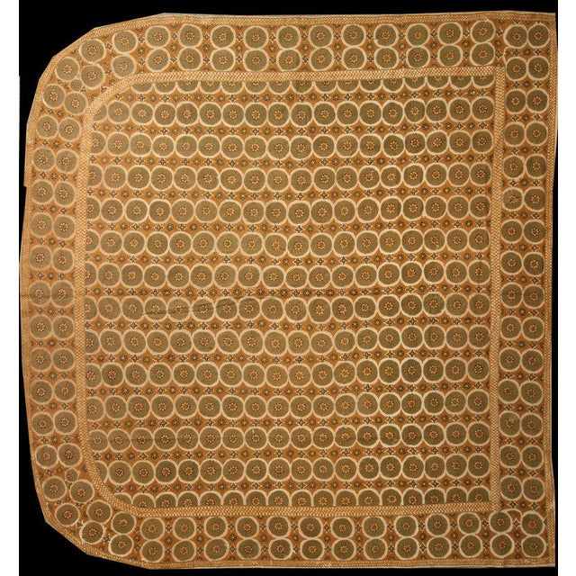 Traditional Hand Knotted Bedroom Portuguese Needlepoint Rug - 9′6″ × 9′9″ For Sale - Image 3 of 3