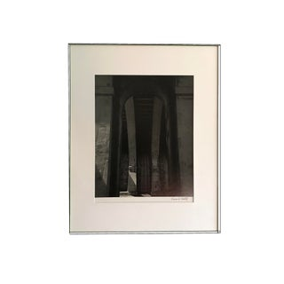 1970s Signed Collectible Cityscape Black White Architecture Photograph by Newson H. Shewitz For Sale