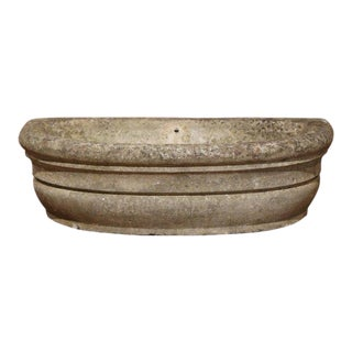 Important 18th Century French Patinated Stone Garden Jardinière For Sale