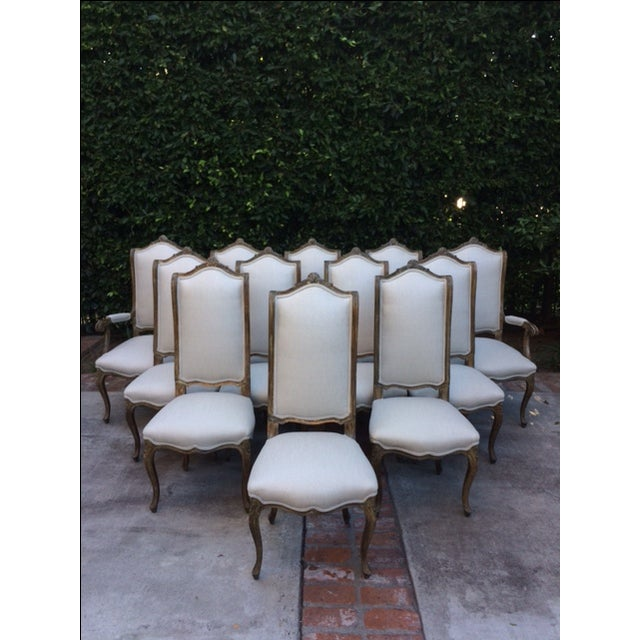 French Louis XVI Style Dining Chairs - Set of 12 - Image 10 of 11