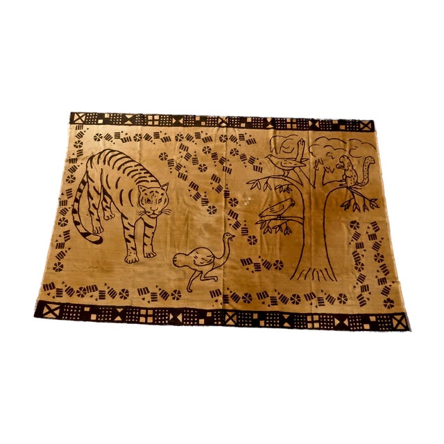 African Mud Cloth Wall Hanging or Throw - Image 1 of 6