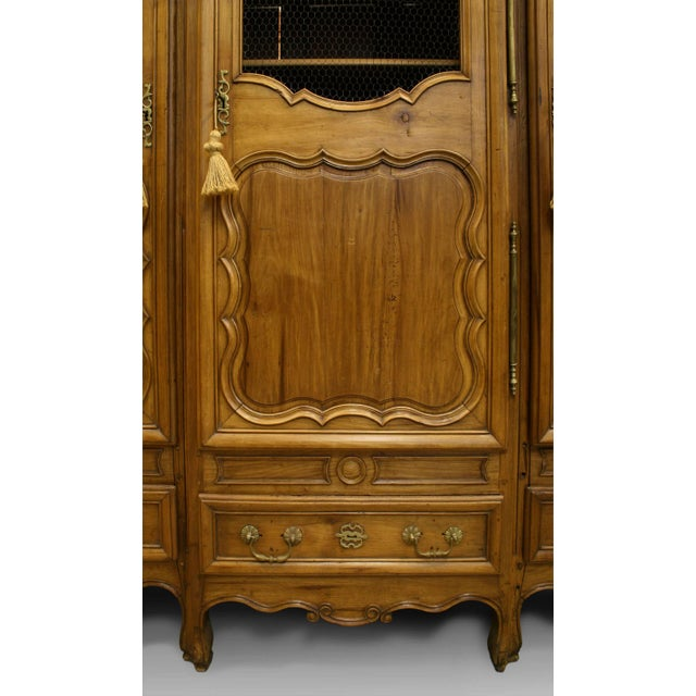 French Provincial Walnut Armoire Cabinet For Sale - Image 4 of 5