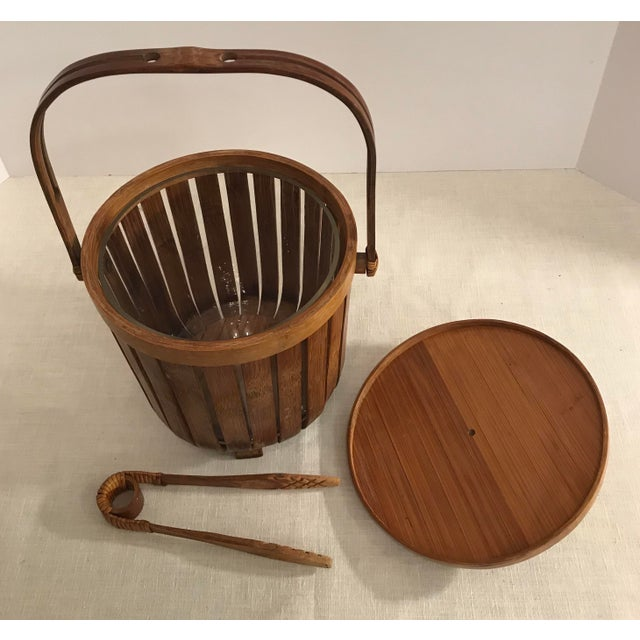 Vintage Bamboo Ice Bucket & Tongs - A Pair - Image 4 of 11