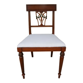 Neoclassical Side or Desk Chair -Scholle's Chicago For Sale
