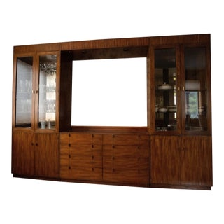 1980s Modern Dining Room Set Wall Unit For Sale