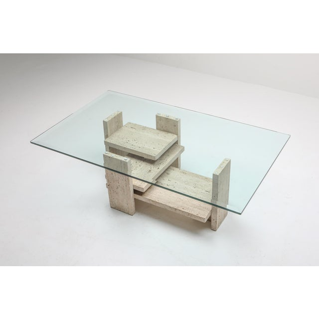Travertine Postmodern Coffee Table - 1970s For Sale - Image 6 of 10
