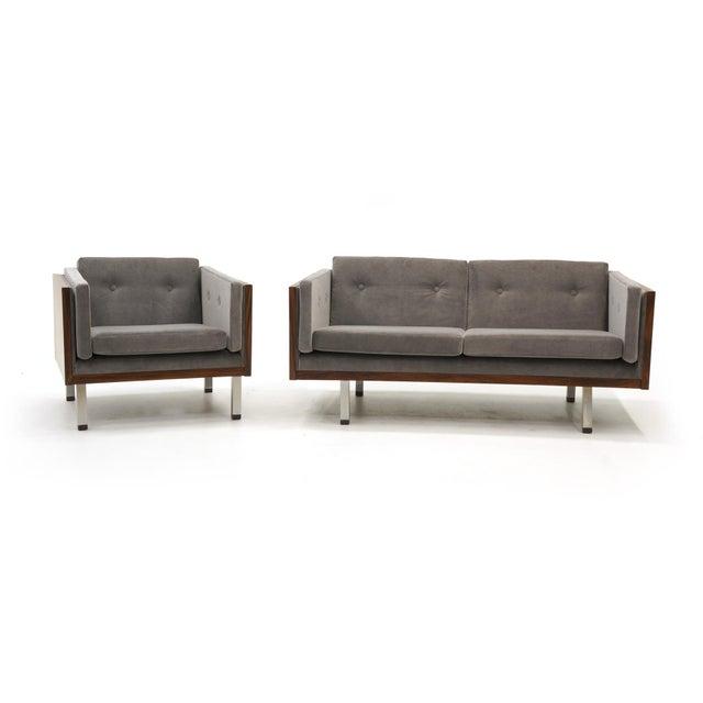 Jydsk Mobelvaerk Pair of Case Settees or Loveseats and Chair in Rosewood by Jydsk Møbelværk For Sale - Image 4 of 11