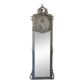 Goddess Relief Gilded Floor Mirror | Chairish