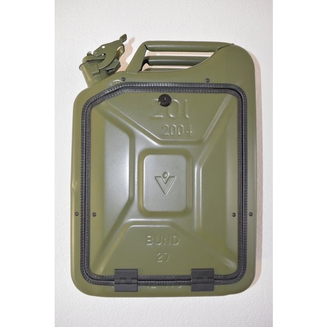 Danish Fuel Army Green Bar Cabinet For Sale - Image 10 of 10