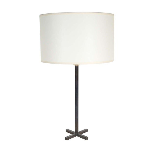 Customizable Bud Bronze Table Lamp with X-Base - Image 3 of 3
