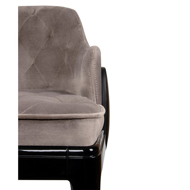 Not Yet Made - Made To Order Covet Paris Modern Charla Bar Chair For Sale - Image 5 of 7