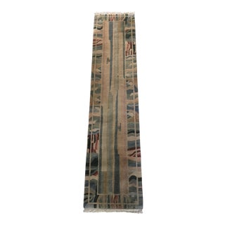 "Contemporary Nepalese Hand Knotted Wool Runner Rug - 2'8"" x 11'5"""