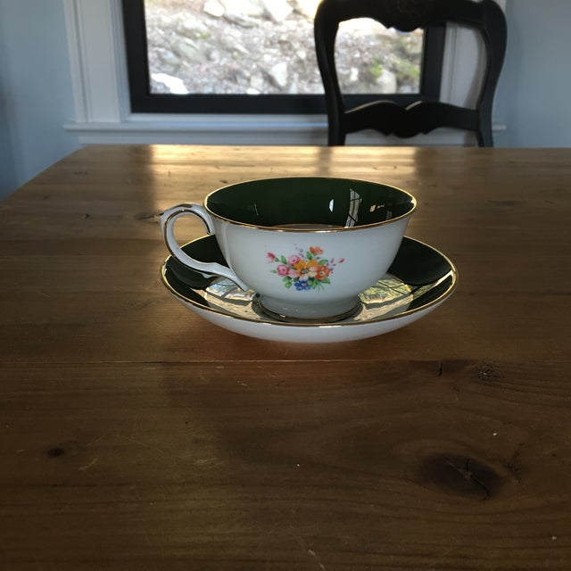 Fine Bone China Tea Cup. No cracks, chips or crazing. Some areas of use as noted on pictures.
