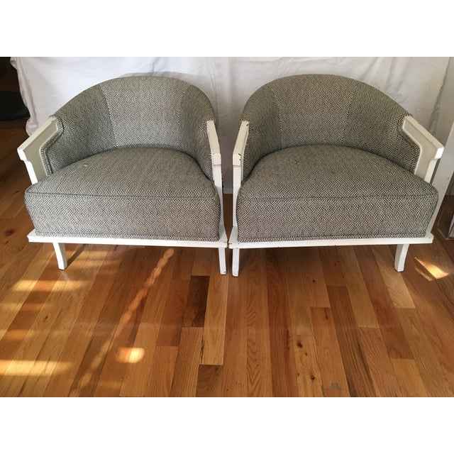 1950's Herringbone Chairs - A Pair - Image 6 of 7