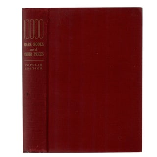 """1940 """"Ten Thousand Rare Books and Their Prices"""" Collectible Book For Sale"""