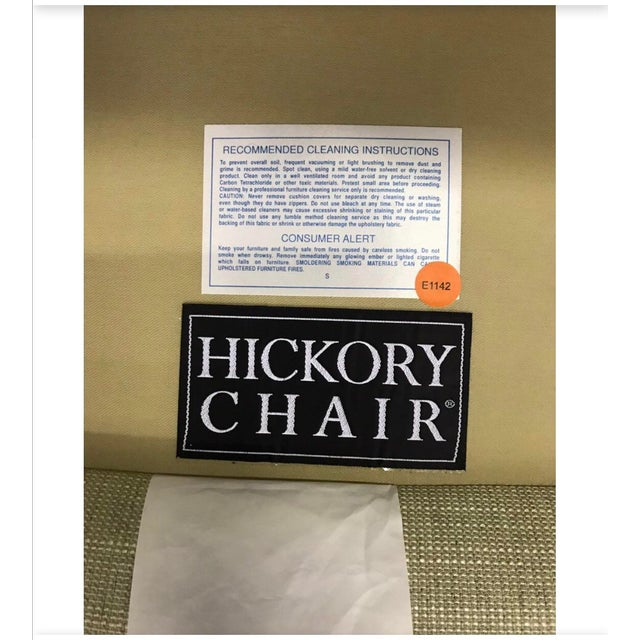 Hickory Chair Furniture Co. Mid-Century Modern Upholstered Lounge Chair For Sale - Image 11 of 12