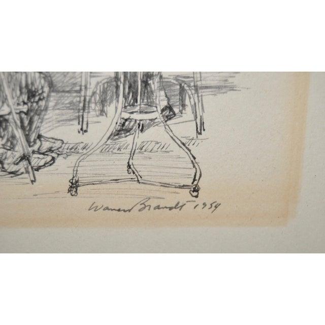 Original Pen & Ink Drawing by Warren Brandt For Sale - Image 4 of 7