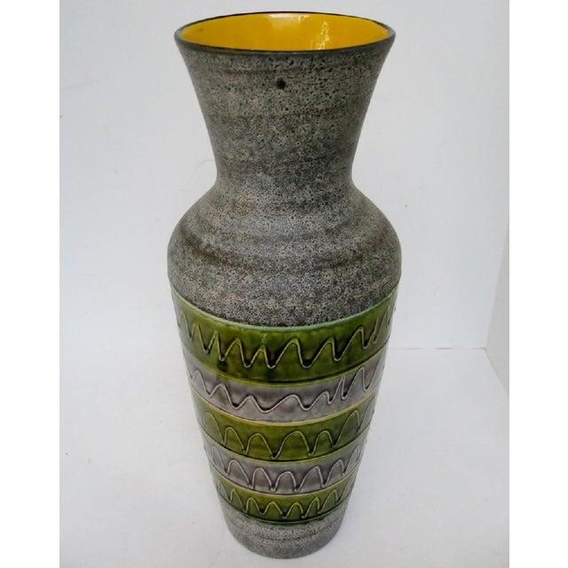 Bodo Mans West German Ceramic Floor Vase For Sale - Image 4 of 8