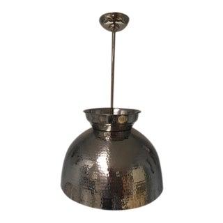 Stainless Steel Depressed Pendant Light For Sale