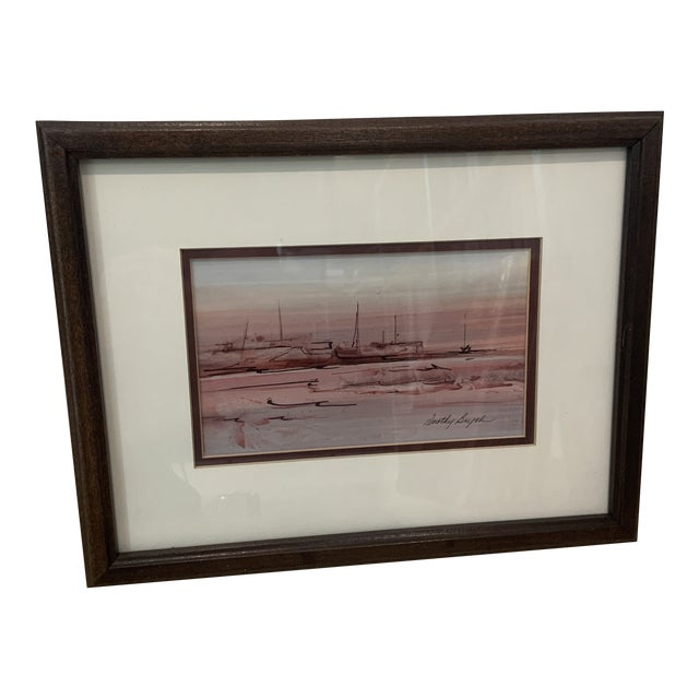 Mid 20th Century Abstract Watercolor Painting, Framed For Sale