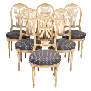 Louis XVI Style Céruse Dining Chairs For Sale