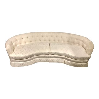 Vintage Henredon Curved Sofa For Sale