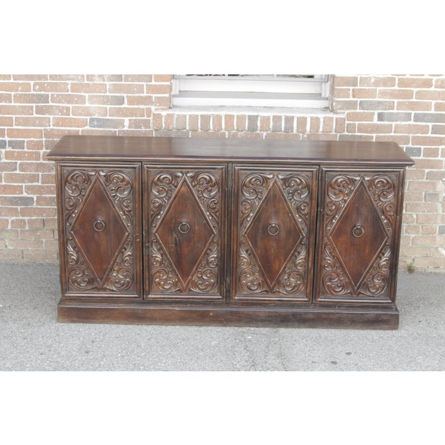 Spanish Colonial Carved Sideboard - Image 4 of 9