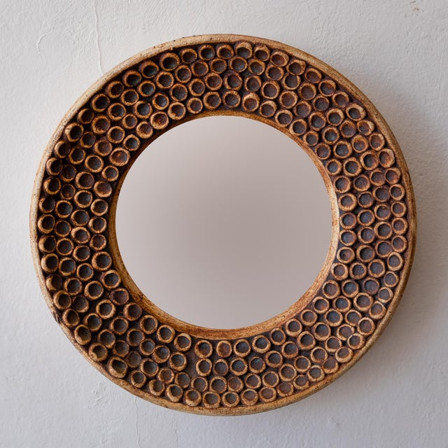1960s Ceramic Wall Mirror, 1960s For Sale - Image 5 of 7