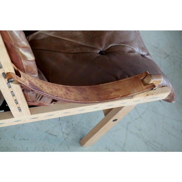 Midcentury Easy Chair Model Hunter by Torbjørn Afdal for Bruksbo, Norway For Sale In New York - Image 6 of 9