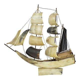 Italian Horn Musical Ship Model For Sale