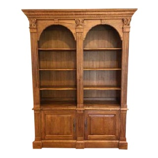 Ethan Allen Double Arch Bookcase/Display Cabinet For Sale