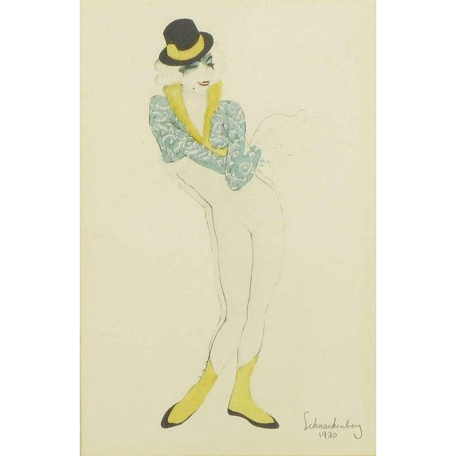 "Walter Schnackenberg Set Three Walter Schnackenberg (1880-1961) ""Ballet Und Pantomime"" Tinted Prints For Sale - Image 4 of 9"