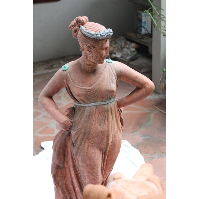 Orange Mid 19th C. English Signed Garden Statuary For Sale - Image 8 of 12