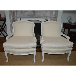 Vintage 1960s Bergere Chairs- A Pair Preview