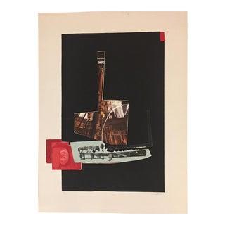 "Fernando Garcia Ponce ""Composition 11"" Lithograph For Sale"