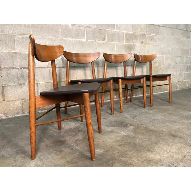 Stanley Mid Century Danish Modern Dining Chairs Set Of 4