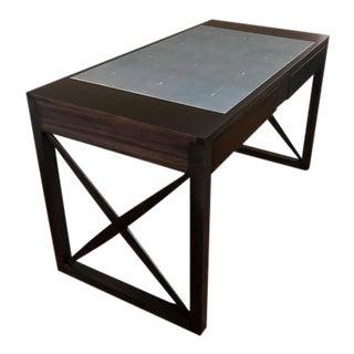 Ebonized Mahogany and Shagreen Top Desk