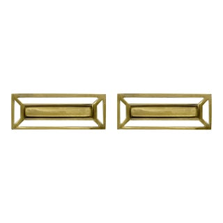 Addison Weeks McCoy Pull, Antique Brass - a Pair For Sale