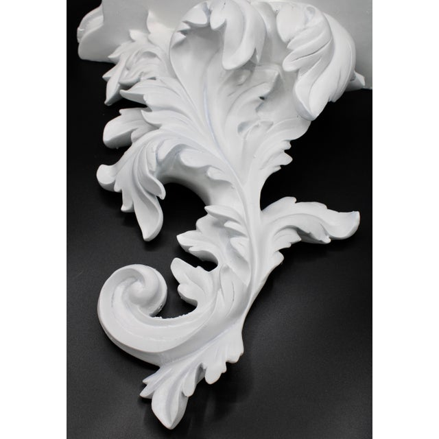 Mid 20th Century Large White Acanthus Leaf Wall Shelf For Sale - Image 5 of 12