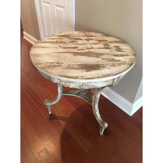 David Latesta Custom Hand Finished White Rustic Table For Sale - Image 10 of 10