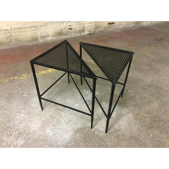 1950s Mathieu Mategot Pair of Triangle Coffee Tables For Sale - Image 5 of 5