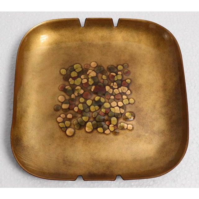 Mid-Century Modern Enameled Mid Century Ashtray by Bovano For Sale - Image 3 of 8