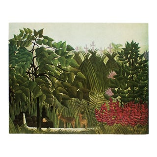 "1951 Henri Rousseau, ""Waterfall"" Original Parisian Photogravure For Sale"