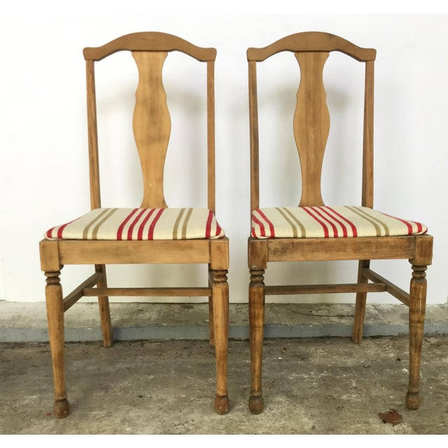 Brown Antique 1900's Oak Chairs - Pair For Sale - Image 8 ... - Antique 1900's Oak Chairs - Pair Chairish