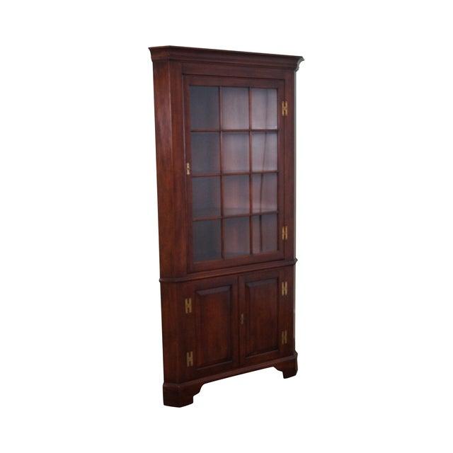 Henkel Harris Solid Cherry 12 Pane Corner Cabinet - Image 1 of 10